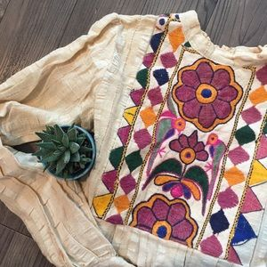 Vintage and handmade embroidered blouse